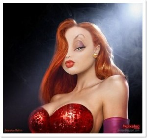 Top 10 Cartoon Characters- Jessica Rabbit