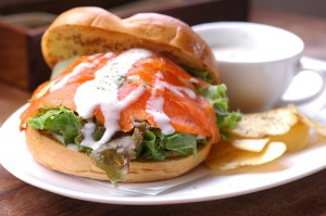 Top 10 Sandwiches - Salmon and Cream Cheese