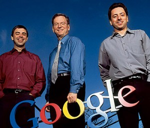 Top 10 Most Successful Entrepreneurs - Sergey Brinn, Larry Page and Eric Schmidt
