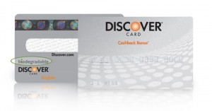 Top 10 Credit Cards - Discover Biodegradable Card